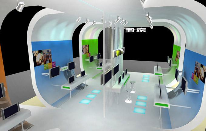 索佳液晶电视展会设计